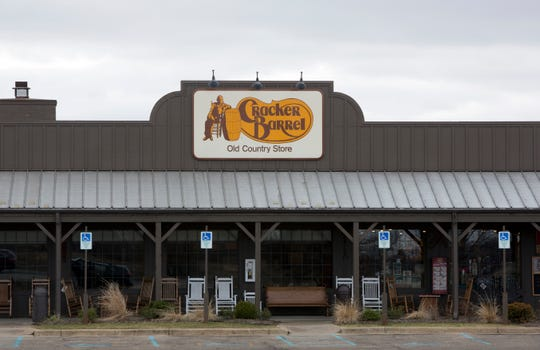 A general view of the Cracker Barrel where a gunman went on a shooting rampage, on February 21, 2016 in Kalamazoo, Michigan.
