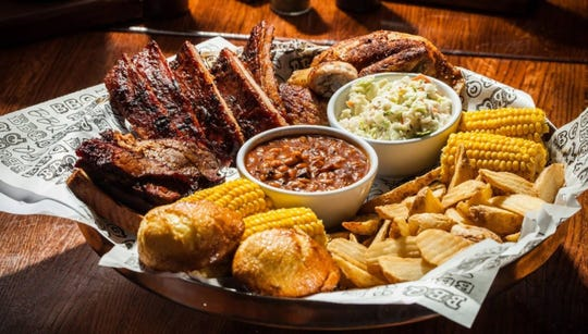 The Feast for 2 at Famous Dave's.