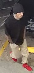 Police are currently searching for a man who robbed a Circle K on Saturday, May 11. He was described as a 6'0'' Hispanic male with black hair, hazel eyes, a goatee and sleeve tattoos on both arms.