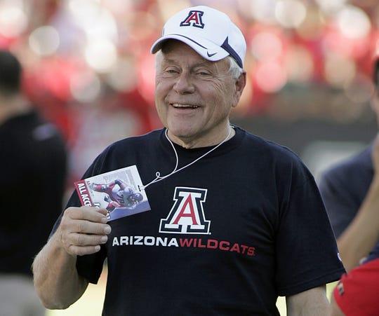 Former Arizona football coach Dick Tomey.