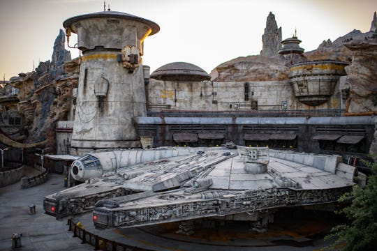 Star Wars: Galaxy's Edge at Disneyland Park in Anaheim, California is Disney's largest single-themed land expansion ever at 14-acres, transporting guests to Black Spire Outpost, a village on the planet of Batuu. Guests will discover two signature attractions. Millennium Falcon: Smugglers Run (pictured), available opening day, and Star Wars: Rise of the Resistance, opening later in 2019.