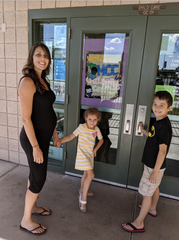 MCC student Sonrisa McLaughlin and her children Sawyer, 4, and Thomas, 7, enjoy one of the college's services that help meet life's challenges, the Children's Center that provides quality daycare.