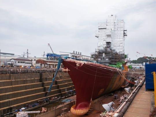 USS McCain, in 2018 photo