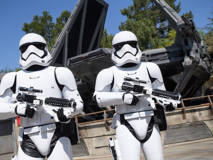 Star Wars: Galaxy's Edge at Disneyland Park in Anaheim, California transports guests to Black Spire Outpost, a village on the planet of Batuu.