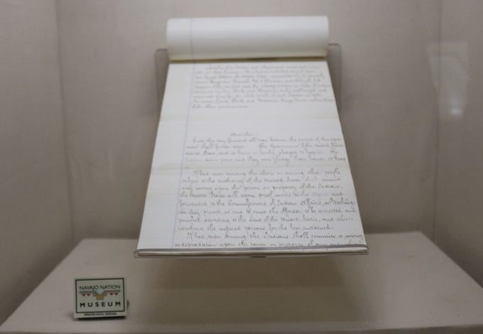 The Tappan copy of the Navajo Treaty of 1868 will be on display at the Navajo Nation Museum from June 1 to June 8, 2019.