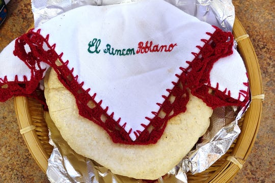 House-made tortillas from El Rincon Poblano in Phoenix.