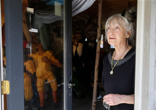 Amy Trompetter inside the puppet museum behind the Redwing Blackbird Theater in Rosendale on May 15, 2019.