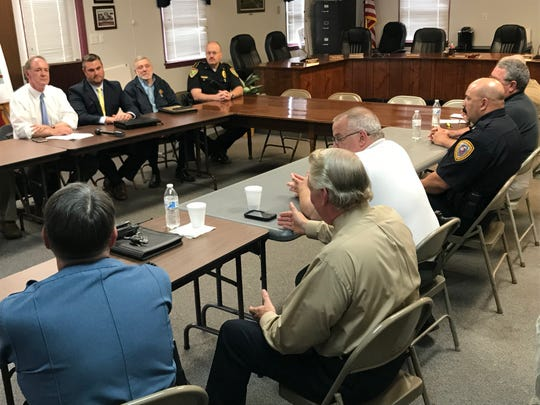 U.S. Rep. John Joyce held a roundtable discussion with police and municipal officials in Franklin and Adams counties on Wednesday afternoon at the Washington Township Municipal Building.