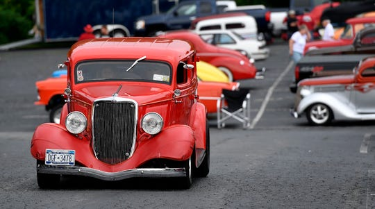 Street rods arrive at the Wyndham Garden York on Loucks Road for this weekend's 46th Annual Street Rod Nationals East at the York Fairgrounds, Thursday May 30, 2019. John A. Pavoncello photo