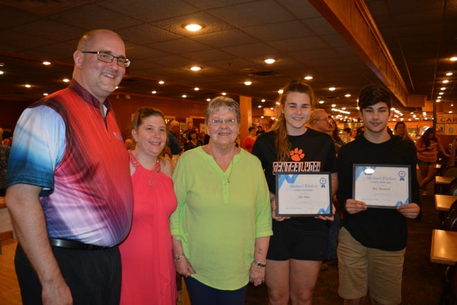 Pictured from left are Travis Sparks, Jen Sparks,  Judy Elicker, Ally Sipe and Max Minnich.