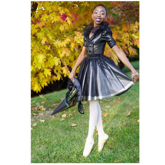 Niyah Peterkin is a 12-year-old student at York Suburban Middle School and a ballet dancer with Central Pennsylvania Youth Ballet. Those shoes she's wearing - pointe shoes - cost about $100 a pair. At this point, she needs a new pair ever two or three months, but she may eventually need a new pair each week.