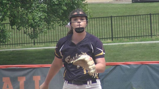 Eastern York pitcher Maelynn Leber gave up just two hits and no runs as the Golden Knights defeated Northern Lebanon 3-0 in the District 3 semifinals at Hershey High School Thursday.