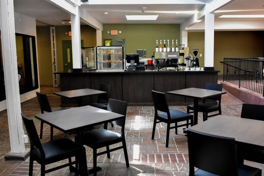 The coffee bar-café at Rattlesnake Club restaurant in Arlington Gardens Mall opens at 8 a.m. The mall is on West Plumb Lane in Reno.