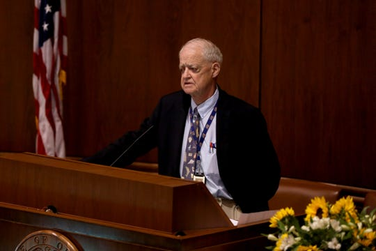 Senate President Peter Courtney, shown here at a tribute for Sen. Jackie Winters, gave a speech Thursday in the Senate chambers pleading with Republicans to end their walkout over a controversial carbon emissions bill.