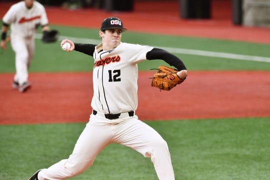 Oregon State pitcher Sam Tweedt is a graduate of South Salem High School.