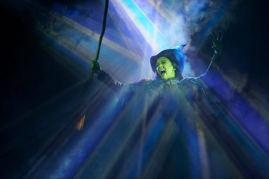 "Mariand Torres as Elphaba in ""WICKED."""