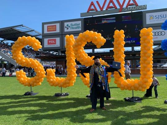 Salinas native Ricardo Mata graduated from San Jose State University's social work graduate program this year.