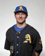 Angelo State University baseball player Nicholas Novak was named honorable mention all-America by the National Collegiate Baseball Writers Association May 29, 2019.