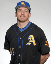 Angelo State University baseball player Josh Elvir was named the National Player of the Year by the National Collegiate Baseball Writers Association May 29, 2019.