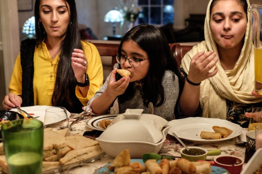 Food is consumed for the first time in 16 hours during Ramadan, which is considered the holiest month for Muslims as they observe strict fasting, increased prayer and good deeds.