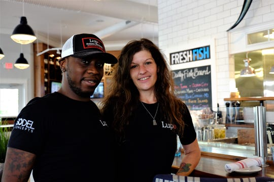 Keith Sivels, one of Delaware's first registered members of its new restaurant apprenticeship program, poses with his mentor Rhian Morrison. Sivels currently works at Lupo Italian Kitchen in Rehoboth Beach.