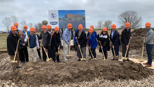 The ground was ceremoniously broken on the new Van Horn Hyundai earlier this month. The new dealership is scheduled to be complete right before Christmas.