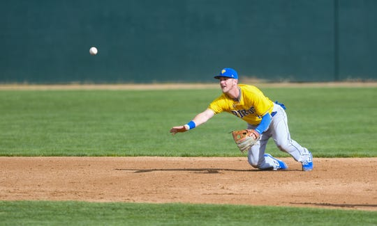 Infielder Jordan Ebert and the Canaries return home after a 13-game road trip Friday night