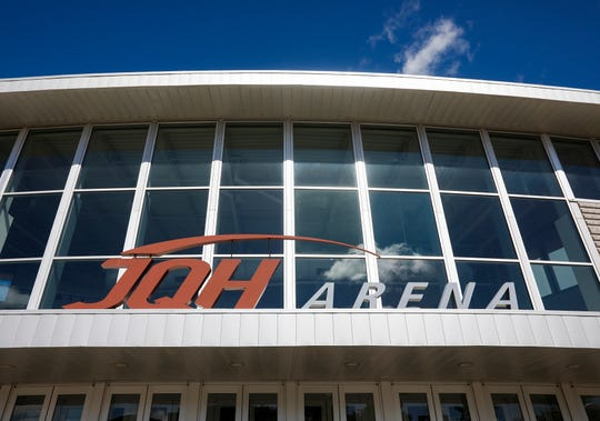 The JQH Arena signage will be removed on June 3, 2019.