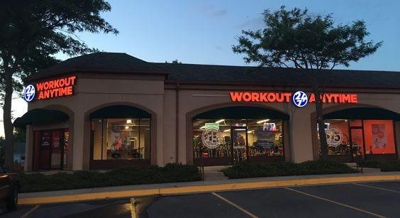 Workout Anytime's location in Lenexa, Kansas.