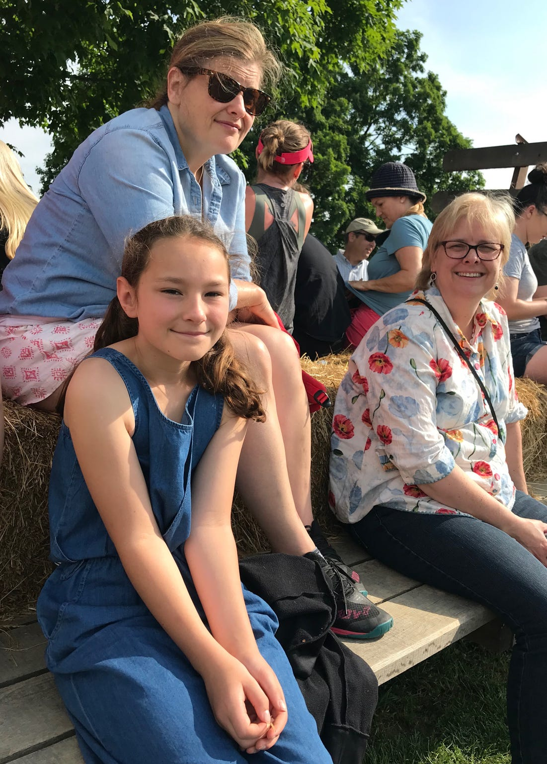 Lily Lind and mom Mary Lind, of Middleway, West Virginia. A day with Temple Grandin on Polyface Farms in Swoope, Virginia, on Wednesday, May 29, 2019.
