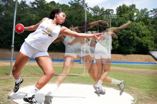 Florida High junior Jhordyn Stallworth is the All-Big Bend Field Athlete of the Year in girls track and field for the second straight season, having won a gold medal in shot put and silver in discus. Stallworth set a county record in discus and her shot put mark was tied for the best ever.