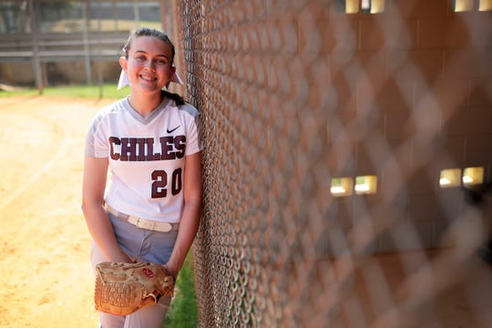 Chiles senior Dani Bauer is the 2019 All-Big Bend Pitcher of the Year in softball after recording a 20-7 record, 0.77 ERA, and 258 strikeouts during the Timberwolves' 21-6 season.