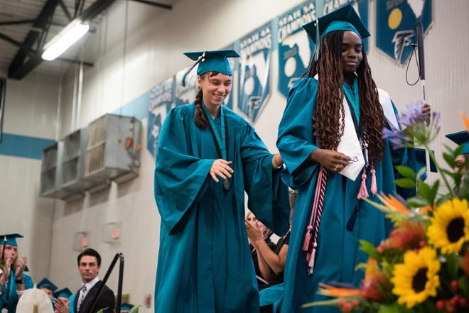 The Jensen Beach High School graduation commencement ceremony is held Wednesday, May 29, 2019, at Jensen Beach High School. One student from Jensen Beach High School was named a 2020 National Merit Scholarship semifinalist.