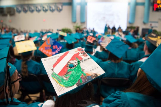 The Jensen Beach High School graduation commencement ceremony is held Wednesday, May 29, 2019, at Jensen Beach High School. Students in Martin County schools may soon be able to take state-mandated assessments in their native language.