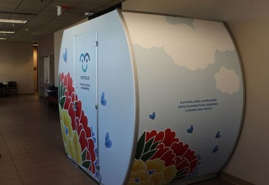 The new Mom Pods, a place for private breastfeeding or pumping, can be found on the lower level and 11th floor of the El Paso County Courthouse.