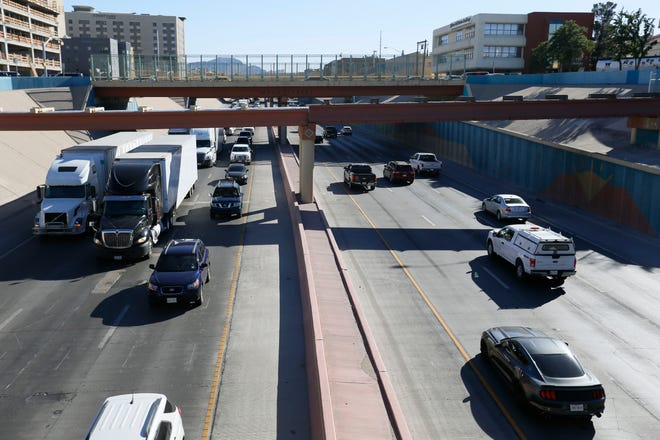 The sunken segment of Interstate 10 through the middle of Downtown El Paso, from Campbell Street to Santa Fe Street, would be expanded and gateways added under concepts being studied by the Texas Department of Transportation.