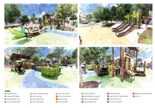 Conceptual drawings for the revamped Arroyo Verde Park in Ventura.