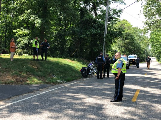 Police cited a motorcyclist after a collision along West Arbor Avenue on May 29, 2019.
