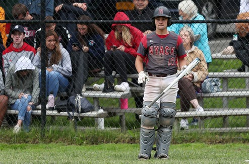 The Rye vs Nyack game was suspended in the top of the 6th inning with Nyack winning 4-2 at Disbrow Park in Rye  May 29, 2019.