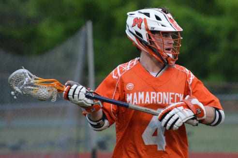 Mamaroneck senior Tom Conley led the attack, getting five goals and two assists against Niksayuna on Wednesday, May 29, 2019 at Columbia High School.