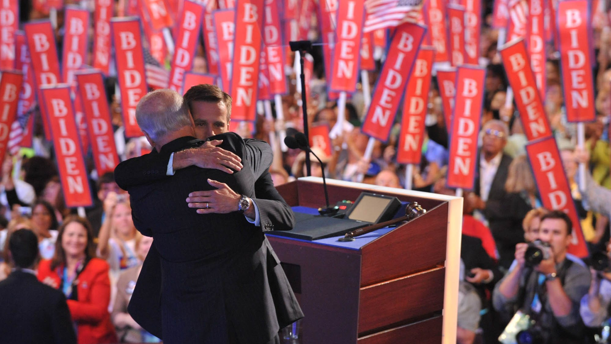 Biden Family Tributes To Beau Mark Finale Of Dnc In Delaware