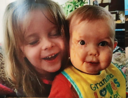 Ronald Deptula (right) is seen in a family photo with his sister, Libby. The boy died at age 13 months of age of a drug overdose.