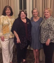 The Senior-Junior Forum honored President Debbie Berend, incoming President Lisa Riley, Novice of the Year Christy Whiteley and Woman of the Year Tracy Barrells at their Installation Banquet. The event was held at the Forum.