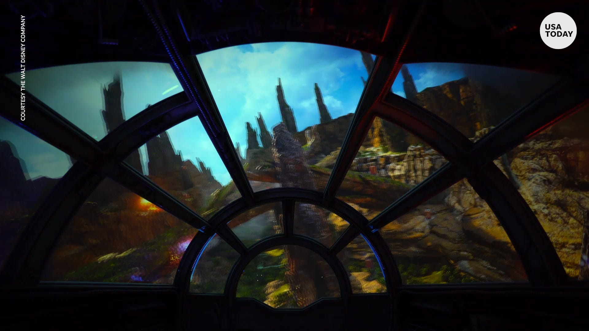 Take a look inside the Millennium Falcon ride at Star Wars: Galaxy's Edge  at Disneyland