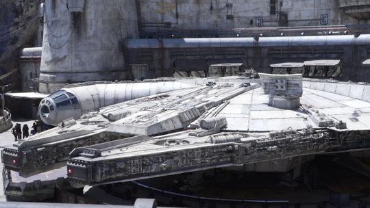 Sparse crowds at Disneyland's Star Wars land? Aerial images offer evidence