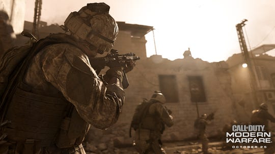 A screenshot from 'Call of Duty: Modern Warfare,' coming to PlayStation 4, Xbox One and PC on Oct. 25