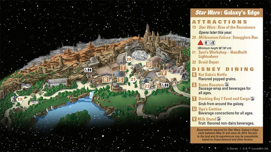 Star Wars: Galaxy Edge map of attractions