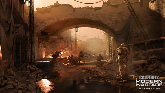 A screenshot from 'Call of Duty: Modern Warfare,' coming to PlayStation 4, Xbox One and PC on October 25.