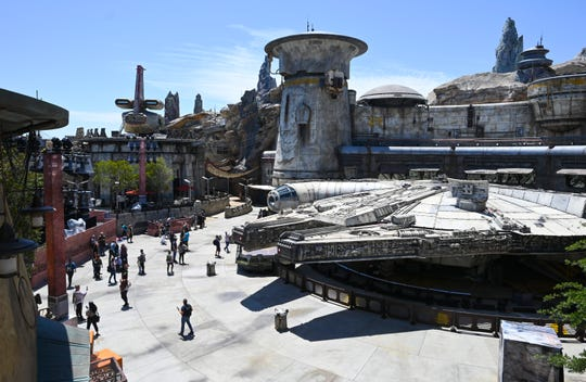 The Millennium Falcon is the centerpiece of the new Star Wars: Galaxy's Edge.