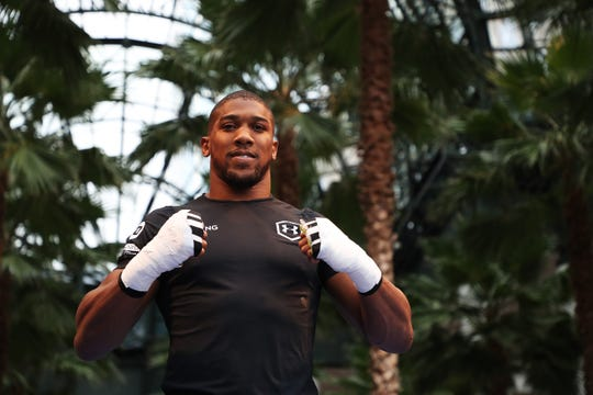 Anthony Joshua prepares for Saturday's fight against Andy Ruiz at Madison Square Garden in New York.